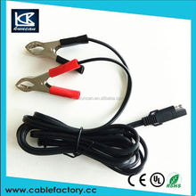 clip cable marker external power cable with alligator clips charging cable