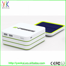 Solar emergency power bank 6000mah portable outdoor backup battery charger