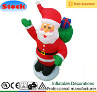 NEW 4 Ft CHRISTMAS INFLATABLE SITTING SANTA CLAUS LIGHTS YARD LIGHTED DECORATION