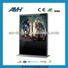 42 inch double screen Touch Panel PC AIO Floor Stand all in one