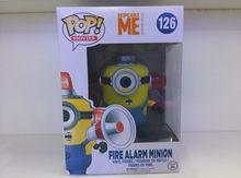 2015 nuevos juguetes calientes de PVC Funko POP 10cm Despicable Me 2 Minions 126 # acción Bomberos figura