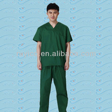 Medical disposable SMS scrub suits a kit includes coat and pants