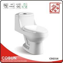 Floor Mounted One Piece Ceramic Toilet Commode