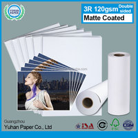 silk full color cheap china luster size 4R 120gsm united office wholesale glossy inkjet photo paper with matte coated