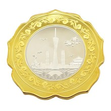 delicate gold plated metal coin, custom souvenir metal coin