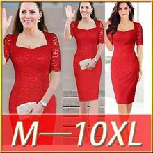 Bestdress party design clothes C87023A europea women big size lace dress cat women lace dresses