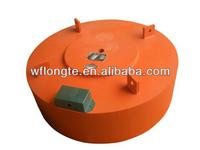 Suspended electromagnet for conveyor belt