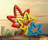 Modern Large Famous Arts Abstract Stainless steel Sculpture for Outdoor decoration