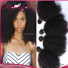 Kimberlyhair top quality afro kinky curly 4a/4b/4c hair weft double sealer no shedding no tangle Mongolian virgin hair