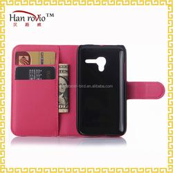 For Alcatel Pop OT4035 wallet case, litchi pattern design flip leather phone case