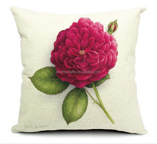 2015 China factory direct supply alibaba selling well fashion super soft 100% cotton Roses pillow