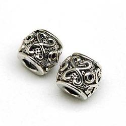 Cheap Bulk Vintage Pattern Zinc Alloy European Charm Beads DIY Jewelry