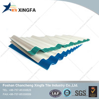Three layers heat insulation plastic roof tile