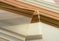 Plain woven pleated striped zebra rainbow blind fabric