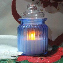 best selling led battery operated decoration Paraffin wax glass flameless candle