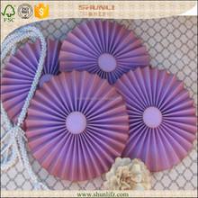 fashionable craft purple diy paper fan banner