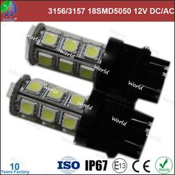 Ultra bright,3156/3157/1156/1157/7440/7443,18smd5050,ba15s socket led auto bulb