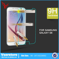wholesale price mobile accessories anti-fingerprint for samsung galaxy s6 tempered glass screen protector