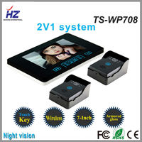Luxury Touch key 2.4GHz wireless 7 inch camera hidden peephole digital door viewer
