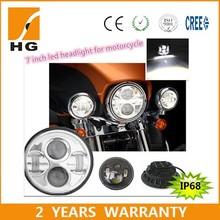 7inch DOT Four Color Change Halo Headlight Kit led headlights For Harley