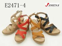 Summer wedge shoes ladies pu wedge sandals