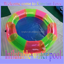 Colorful inflatable pool for swimming