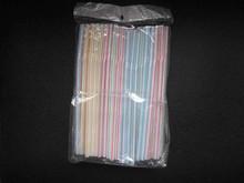 plastic stripe straw/drink straw/color straw