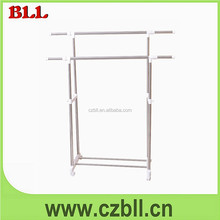 Baililai comfortable popular stainless steel double pole for hanging clothes