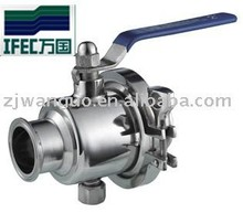Sanitary stainless steel electric actuator ball valve
