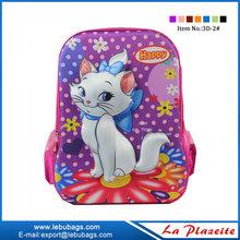 Factory wholesale kids cartoon 3D EVA picture of school bag
