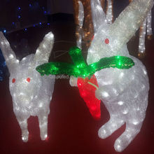 best seller new year fine gift led decorative rabbit