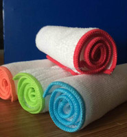 100% polyester white terry ribbed microfiber cleaning cloth