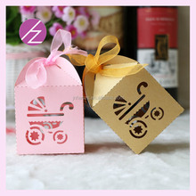 Colorful Baby theme Party Supplies Favors Laser Cut baby car Gift Box TH-123