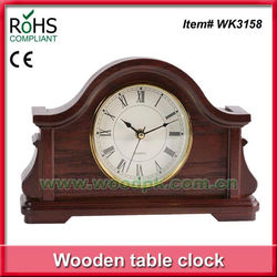 Woodpecker roman numeral old table clock wood mantel clock