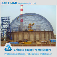 ball joints structure dome metal roofing of steel buildings/coal storage barns