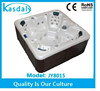 guangzhou 7 seating plastic wood skirt hot tubs with tv