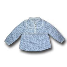 Wholesale New Spring Cotton Fashion Baby Girls Long Sleeve Shirt Girls Flower 100% cotton Shirt