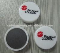 plastic round shape fridge magnet