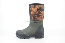 High Quality Waterproof Men Camouflage Rubber Hunting Neoprene Boots