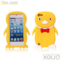 2013 new arrival Stereo Penguin Silicon cases for ipod 5