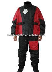 Cheap price 190T Polyester Motorcycle RainCoat suit