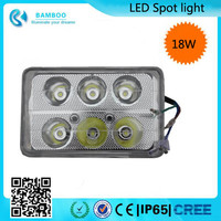 18W Universal Square Motorcycle Led Headlight Waterproof led spot lamp 6 lights Motorcycle Lamp