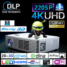 Wifi 3D airplay Full HD Home Theater Projectors Wifi Game Console Projector TF Card Slot 1500 ANSI Lumens