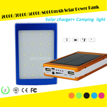 80000mAh solar power bank, 80000mah solar panel charger, 80000mah solar mobile phone charger with led camping light