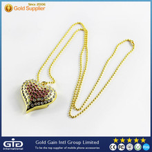 [GGIT] Heart Shape Necklace Diamond USB Flash Disk