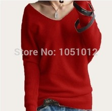 Hot Sale Soft & Comfortable Bat-like Pullovers Female Cashmere Sweater Pure Casual V-neck Short Design Basic Knitted Pullovers