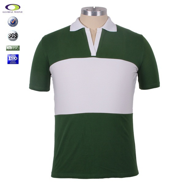 High quality oem white and green color combination polo t for Polo shirt color combination
