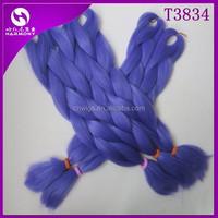 (50 packs T3834, 80grams/pack) STOCK Lavender jumbo braid 100 synthetic braiding hair/synthetic yaki jumbo braiding hair