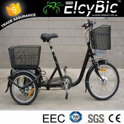 comfortable seat ELON electric bicycle three wheel price(E-TDR04)