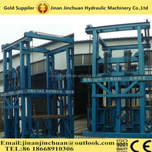 Electrical Hydraulic System Guide Roller Rail Vertical Material Goods Lift For Warehouse with Competitive